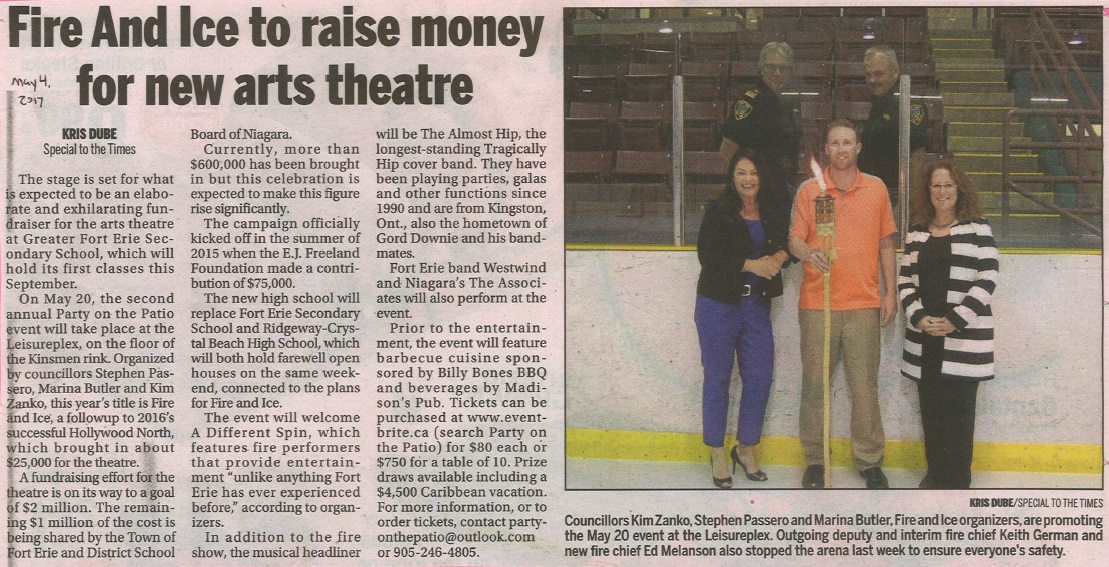 Fire and Ice Raise Money For New Arts Theatre