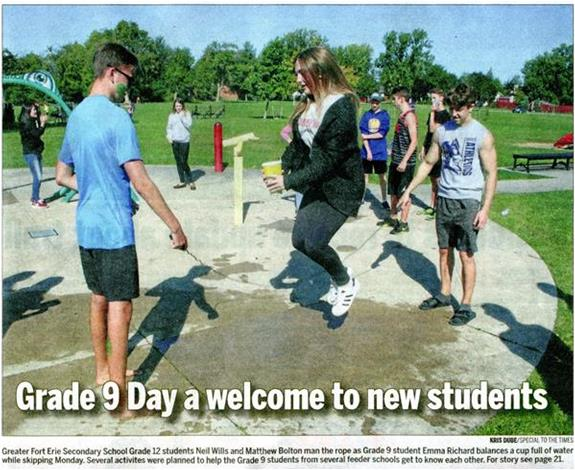 Grade 9 Day a Welcome