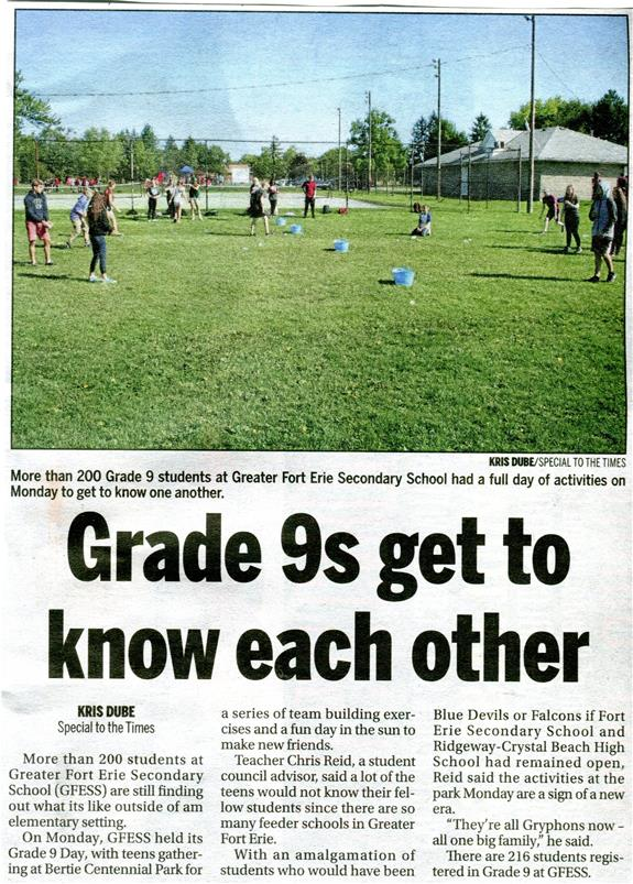 Grade 9 Get to Know Each Other