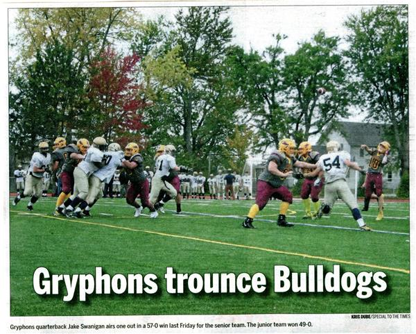 Gryphons Trounce Bulldogs