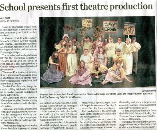 School Presents First Theatre Production
